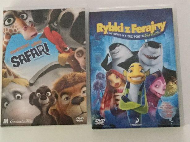 DVD, filmy animowane dla dzieci 2 płyty - Rybki z ferajny i Safari