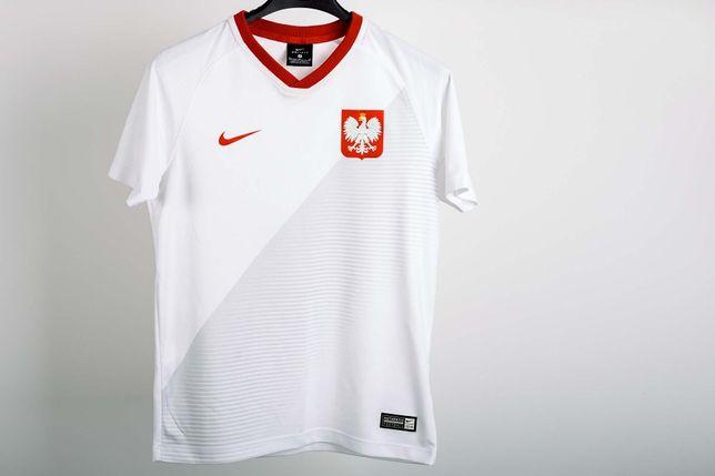 koszulka NIKE Poland 2018 rozmiar M 137-147 cm.