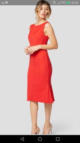 Four Flavor sukienka koktajlowa taliowana czerwona suknia Sylwester
