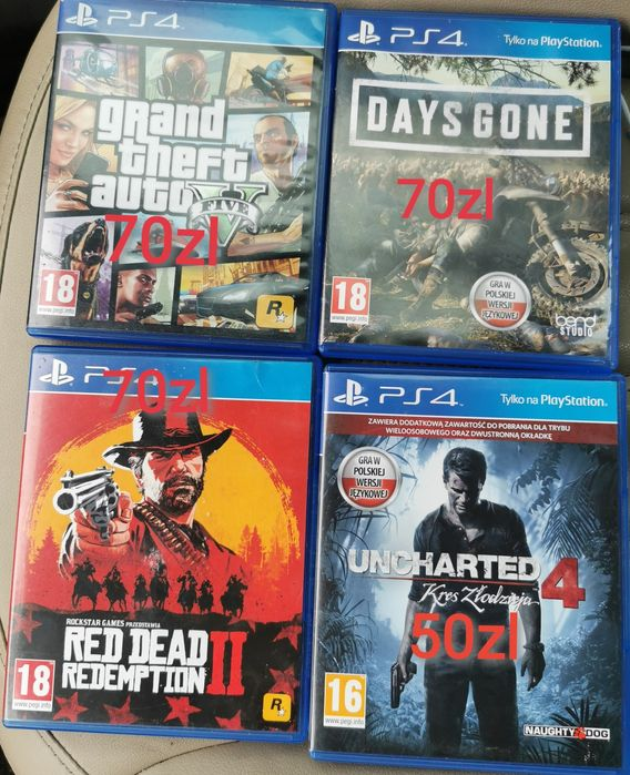 Gry ps4 days Gone gta V Red dead uncharted Wrocław - image 1