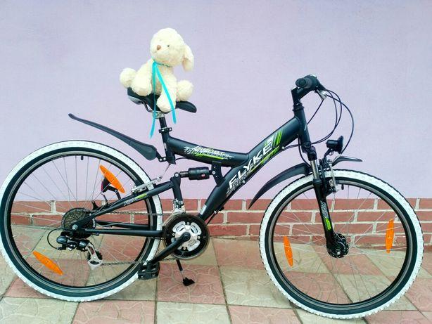 Алюминиевый лёгкий велосипед MTB двухподвес Flyke Shimano из Германии
