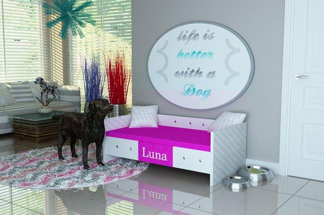 """Legowisko dla psa,psie legowisko -producent-""""LUNA"""" IMIĘ PSA- tkanina03"""