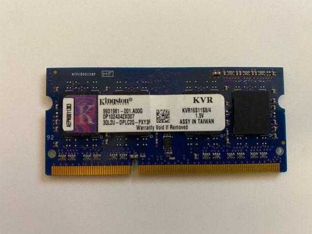 Pamieęć RAM do laptopa kingston kvr16s11s8/4