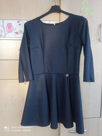 Granatowa sukienka XL