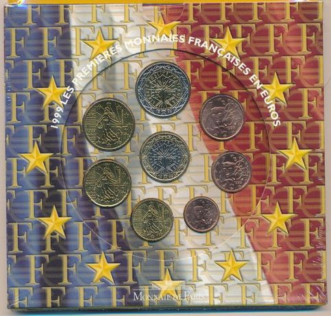 Carteira Oficial EURO SET França 1999 BNC