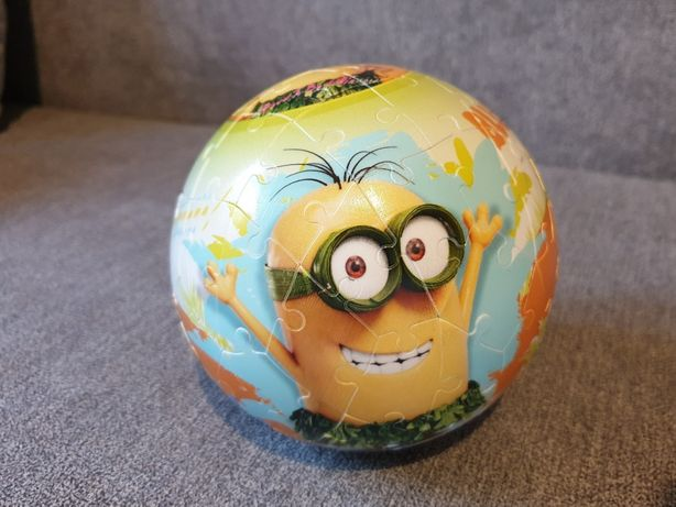 Puzzle , Puzle . Minions , Minionki 3D Piłka z Bajki OKAZJA