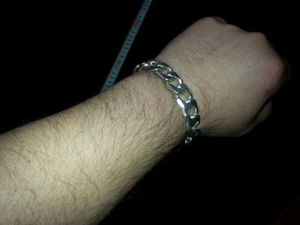 Bransoleta srebrna męska srebro 925
