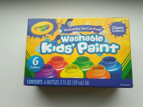 Набор легкосмываемые краски Crayola крайола 6 цветов. Сделаны в США