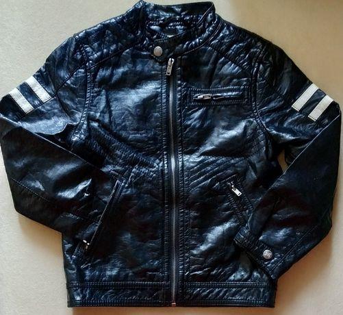 Куртка H&M из кожзама. Размер 128(7-8 лет)