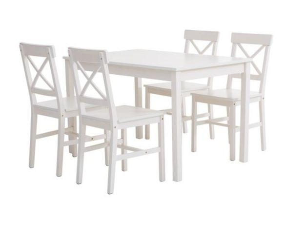 Stół biały bez krzeseł