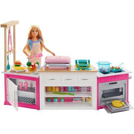 Игровой набор кухня кукла Барби с звуковыми эффектами Barbie
