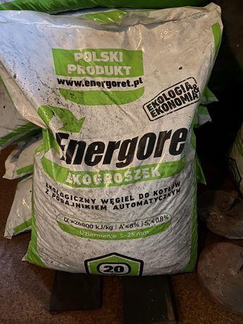 Wegiel eko groszek w workach po 20 kg energoret