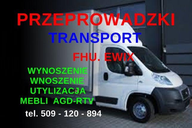 PRZEPROWADZKI Wynoszenie Wnoszenie Utylizacja mebli Transport