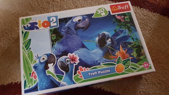Puzle z bajki Rio2 papuga Blu 30 elementów