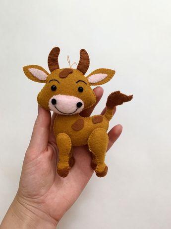 Игрушка корова, игрушка на елку