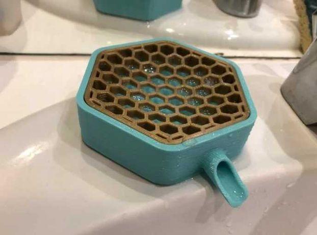 Mydelniczka do łazienki druk 3D sześciobok plaster miodu różne kolory