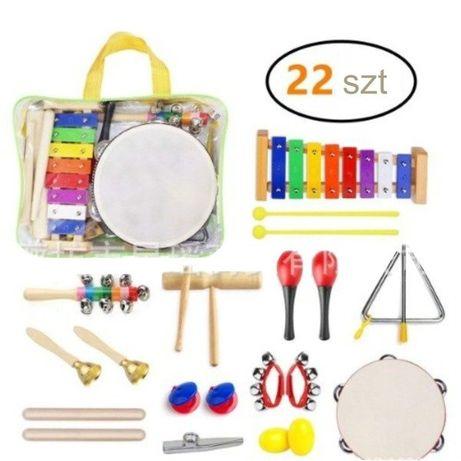 Zestaw perkusyjny 22 elementy