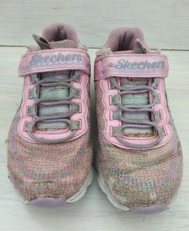 Кроссовки для девочки 28 Skechers мигающие