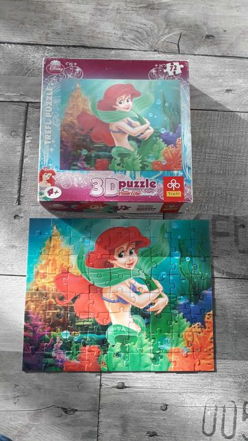 Puzzle 3D 72 el.Trefl - Syrenka Ariel - Disney