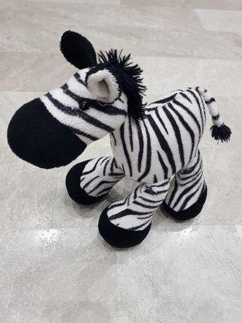 Zebra stojąca, ruchome nogi, wysokość 25 cm - stan bardzo dobry !