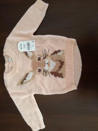 Sweterek Next 68 królik Wielkanoc