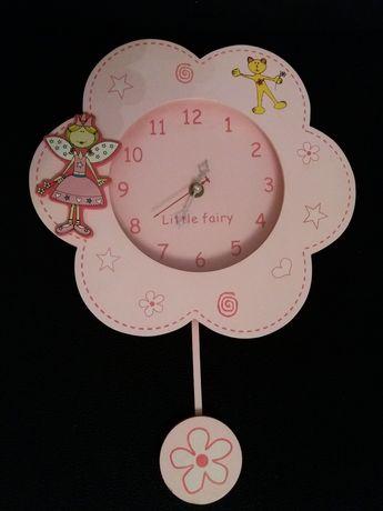 Zegar dziecięcy z księżniczką