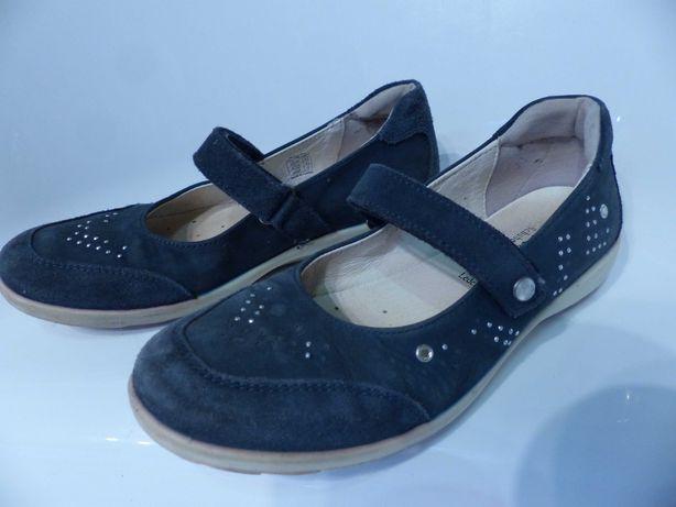 Baleriny buty półbuty BAMA skórzane 35 galowe dł.22,9 cm  DOSTAWA 1 zł