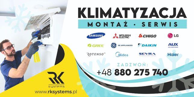 KLIMATYZACJA # montaż # serwis ## RKsystems ## Oświęcim