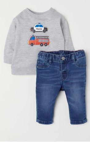 Zestaw 3-6 Spodnie dżinsy sweter body 68 H&M F&F Fisher Price