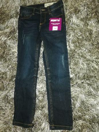 SPODNIE Chłopięce jeansowe *128*cm
