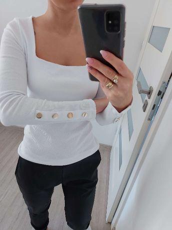Bluzka biała prązkowana