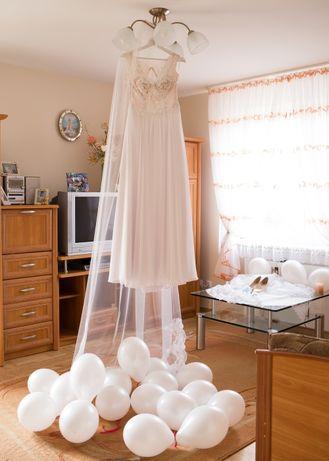 Suknia ślubna r. 38 śnieżnobiała 176