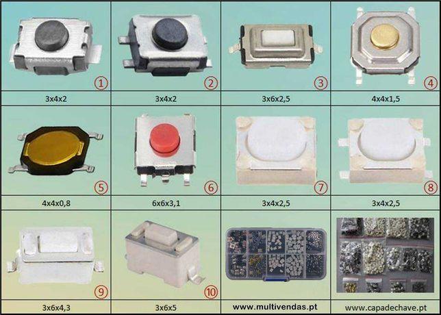 120 botões micro switch telemóveis comando chave auto