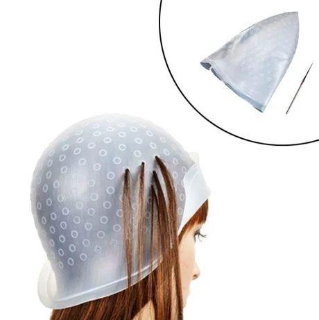 Силиконовая шапка для мелирования. Шапочка для меллирования.я