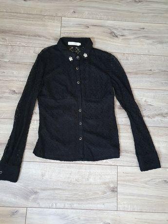 Koronkowa koszula S czarna