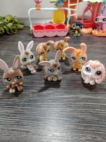 Little Pet Shop dużo słodziaków przychodnia huśtawki