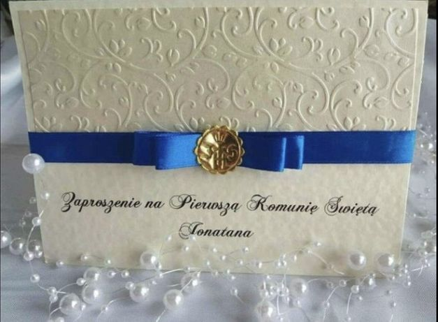 Zaproszenia na ślub komunię chrzest personalizacja
