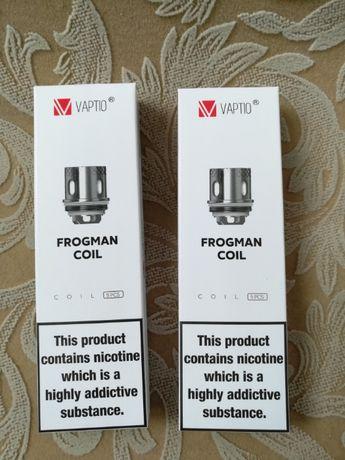 Испарители VAPTIO Paragon coil,  Frogman coil W2 W6 W8. Оригинал.