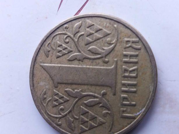 Монета 1 гривня 2001 и 2002