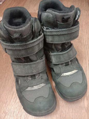 Зимние ботинки ecco на мальчика   р. 32