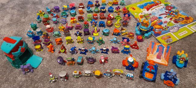 Super Zings figurki,  pojazdy i gazetka,  i figurki Angry birds
