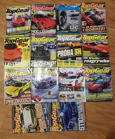 Top Gear magazyn 14 sztuk Roczniki '08-'16