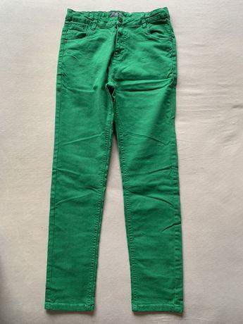 Reserved spodnie zielone jeansy 164