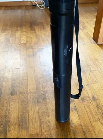 TUBO EM PVC PRETO para armazenar desenho/plantas