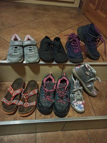 Buty dziewczęce 35 zestaw lub na sztuki (Bartek, CMP, Decathlon)