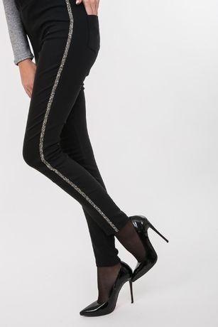 Стильные штаны брюки джеггинсы леггинсы лосины теплые черные, р-р М
