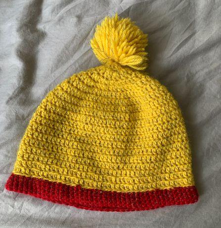 Musztardowa czapka damska