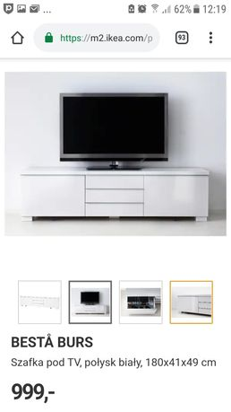 CZARNA szafka pod TV Besta Burs IKEA połysk