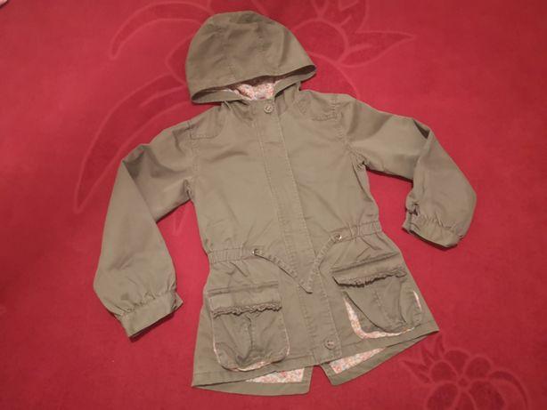 В отличном! Фирменная весення легкая куртка ветровка плащ парка TU 7-8