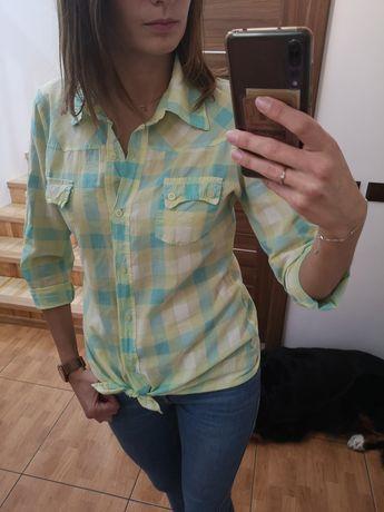 Koszula w żółto - niebieską kratę